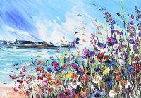 COASTAL FLOWERS by Irish School at Ross's Auctions