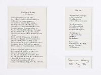 BLACKBERRY PICKING & SLOE GIN, TWO POEMS by Seamus Heaney at Ross's Auctions
