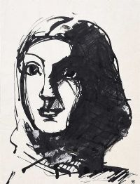 PORTRAIT OF A GIRL by Colin Middleton RHA RUA at Ross's Auctions