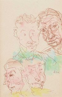 FACES IN THE CROWD by Daniel O'Neill at Ross's Auctions