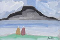 LOOKING ACROSS TO ACHILL by Markey Robinson at Ross's Auctions