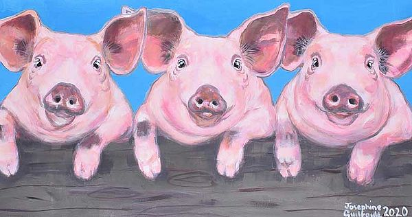 PIGGY PALS by Josephine Guilfoyle at Ross's Online Art Auctions
