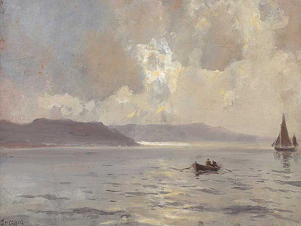 OUT FISHING, ANTRIM COAST by James Humbert Craig RHA RUA at Ross's Online Art Auctions