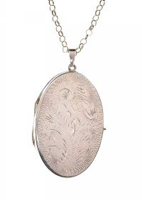 SILVER LOCKET AND CHAIN at Ross's Jewellery Auctions
