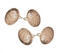 9CT ROSE GOLD CUFFLINKS at Ross's Jewellery Auctions