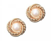 9CT GOLD AND PEARL EARRINGS at Ross's Jewellery Auctions