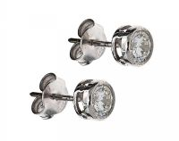 18CT WHITE GOLD DIAMOND STUD EARRINGS at Ross's Auctions
