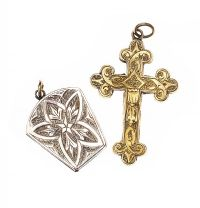 GOLD-TONE CROSS AND LOCKET at Ross's Jewellery Auctions
