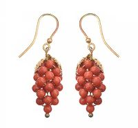 GOLD TONE CORAL EARRINGS at Ross's Jewellery Auctions