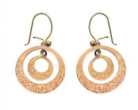 GOLD TONE HOOP EARRINGS at Ross's Jewellery Auctions