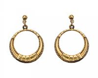 9CT GOLD HOOP EARRINGS at Ross's Jewellery Auctions