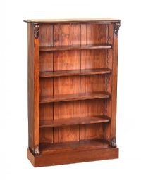 WILLIAM IV MAHOGANY OPEN BOOKCASE at Ross's Auctions
