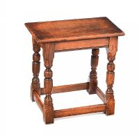 OAK JOINT STOOL at Ross's Online Art Auctions