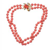 1960'S FAUX CORAL NECKLACE BY 'VOGUE BIJOUX at Ross's Jewellery Auctions