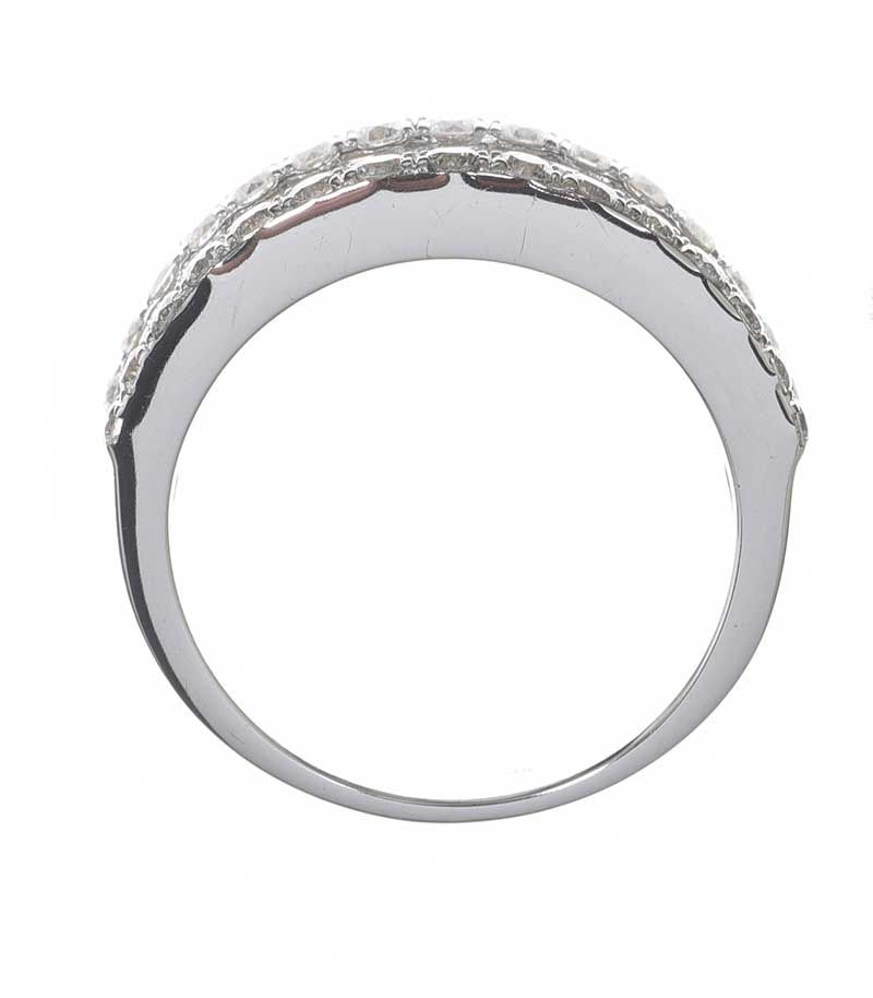 18CT WHITE GOLD BRIDGE RING at Ross's Online Art Auctions