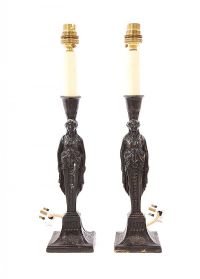 PAIR OF BRONZE FIGURE TABLE LAMPS at Ross's Auctions