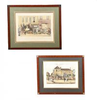 PAIR OF COLOURED ENGRAVINGS at Ross's Auctions