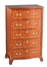 INLAID KINGWOOD CHEST OF DRAWERS at Ross's Auctions