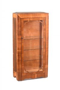 VINTAGE WALNUT DISPLAY CABINET at Ross's Auctions