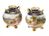 PAIR OF ROYAL VIENNA VASES at Ross's Auctions