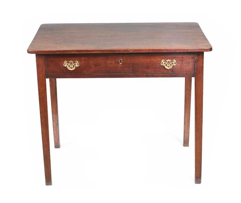GEORGIAN MAHOGANY SIDE TABLE at Ross's Online Art Auctions