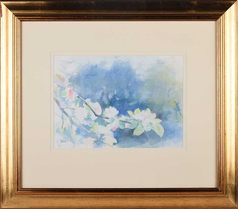 BLOSSOM BY THE RIVER LAGAN at Ross's Online Art Auctions