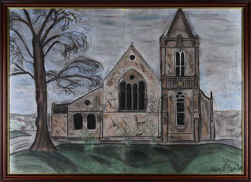 STUDY OF A CHURCH by Irish School at Ross's Online Art Auctions