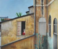 WINDOW IN HAIFA by Neisha Allen ARUA at Ross's Auctions